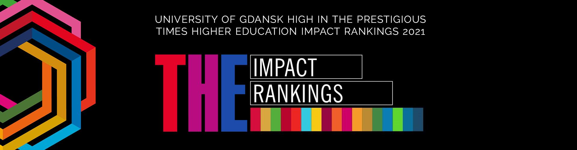 UNIVERSITY OF GDANSK HIGH IN THE PRESTIGIOUS TIMES HIGHER EDUCATION IMPACT RANKINGS 2021