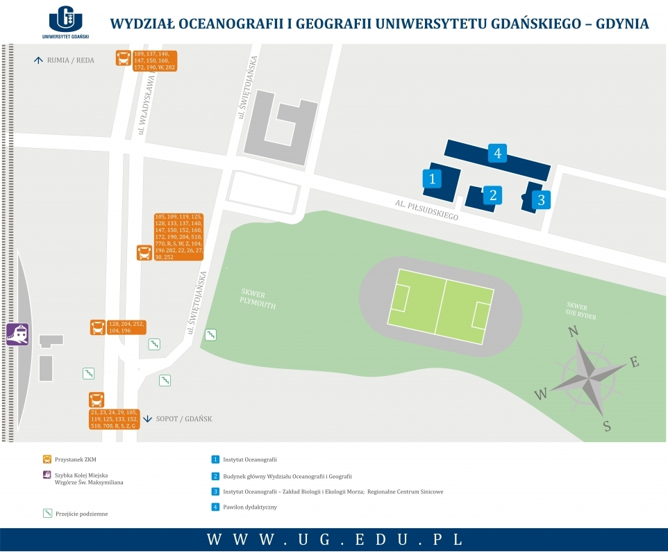 Mapa kampusu w Gdyni