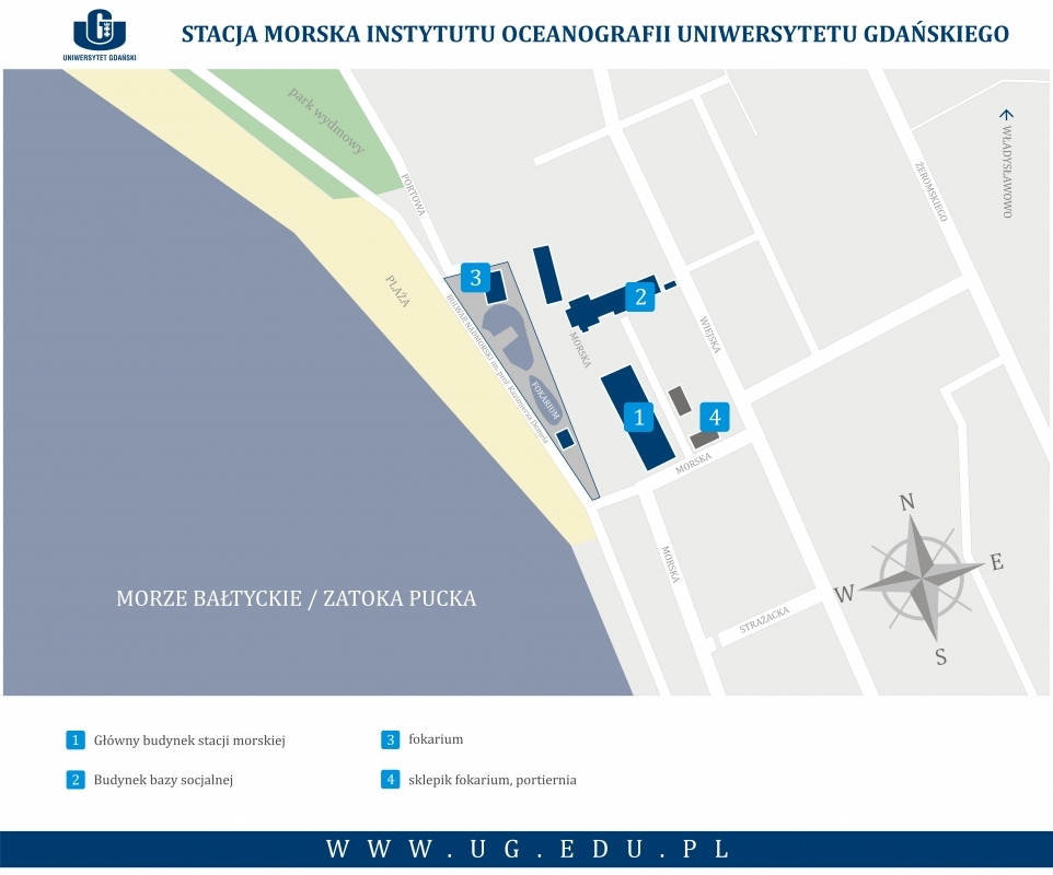 Stacja Morska Instytutu Oceanografii w Helu na mapie