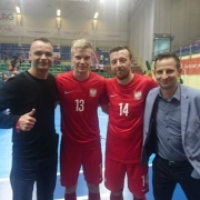 After the match with Moldova: Deputy Director of the Physical Education and Sports Section Tomasz Aftański, Tomasz Kriezel