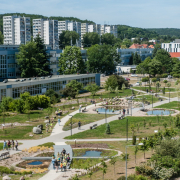 The ceremonial opening of the University of Gdańsk's EcoPark 17